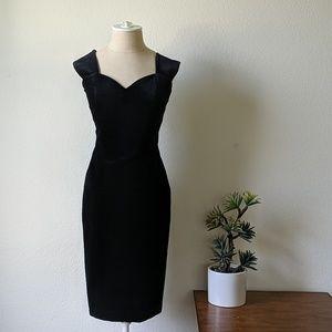 Vintage 90s velvet sweetheart wiggle dress